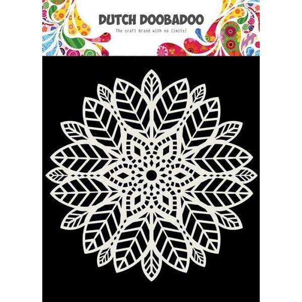 Dutch Doobadoo Mask Stencil 6x6 Mandala Leaves
