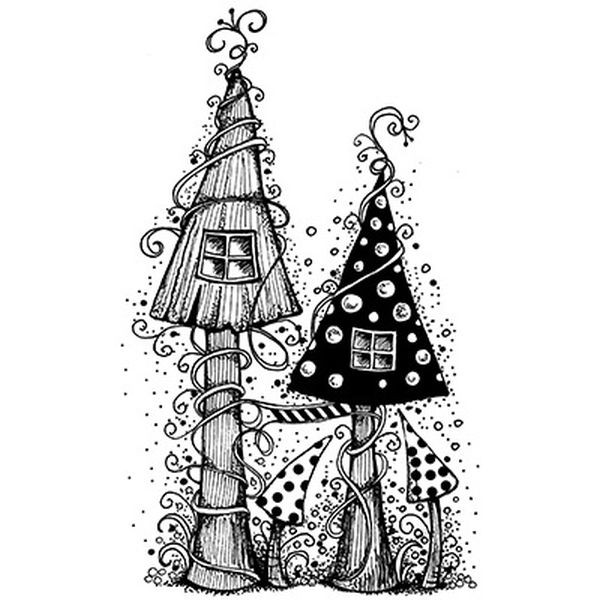 Lavinia Stamps Fairy House
