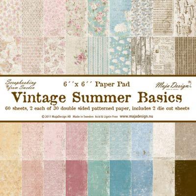 """Maja Design Vintage Summer Basics Paperpad 6"""""""