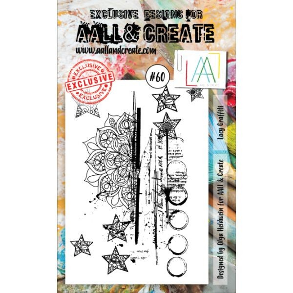 AALL & Create Clearstamps A6 No. 60 Lacy Graffiti