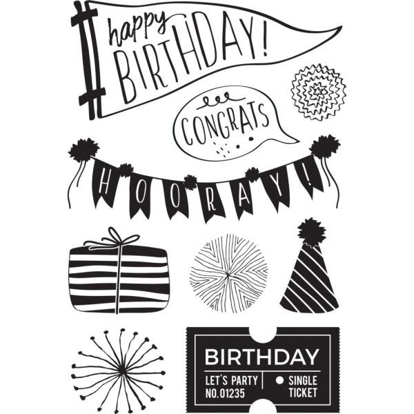 Kaisercraft Clearstamps 4x6 Oh Happy Day!