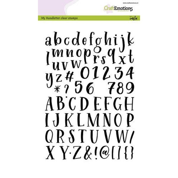Craft Emotions Clearstamps Handlettering Alphabet Typewriter