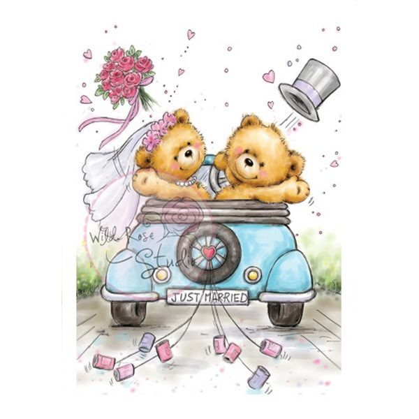 Wild Rose Studio Clearstamps Just Married