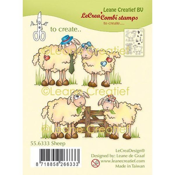 LeaCreadesign Combi-Clearstamps Sheep