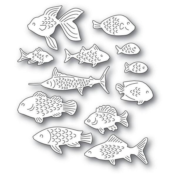 Memory Box Craft Die School of Fish