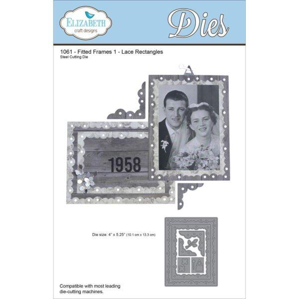 Elisabeth Craft Designs Die Fitted Frames 1 Lace Rectangles