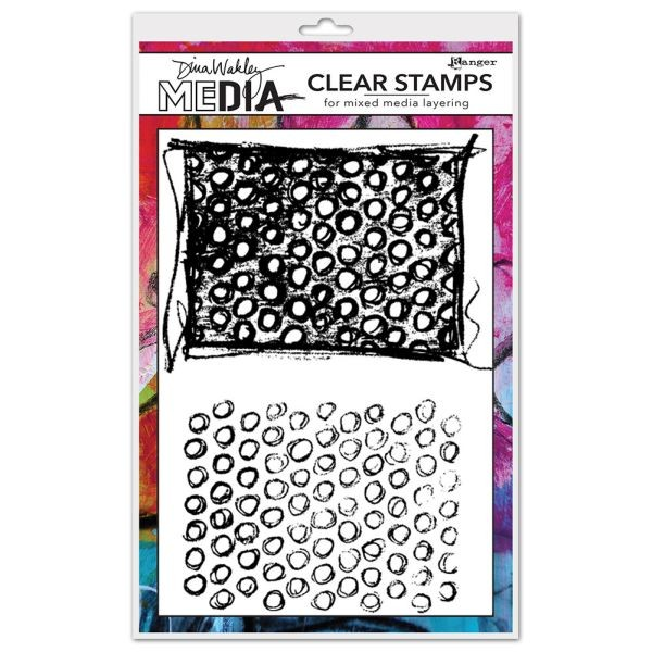 Dina Wakley Media Clearstamps Scribbly Circles