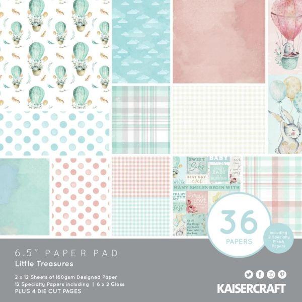 Kaisercraft Paper Pack 6.5x6.5 Little Treasures