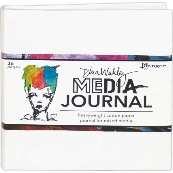 Dina Wakley Media Journal White 6x6