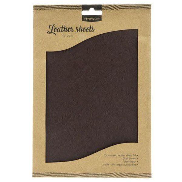 Studio Light Fake Leather Sheets Dark Brown