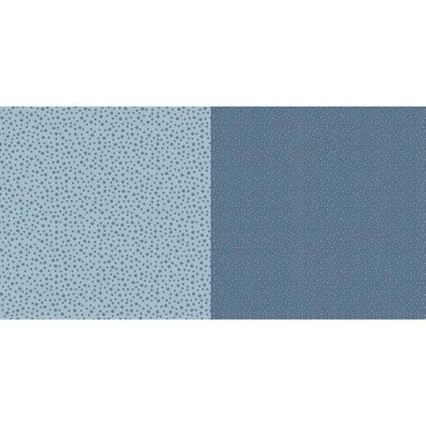 Dini Design Scrapbook-Papier Punkte & Blumen Schwedenblau