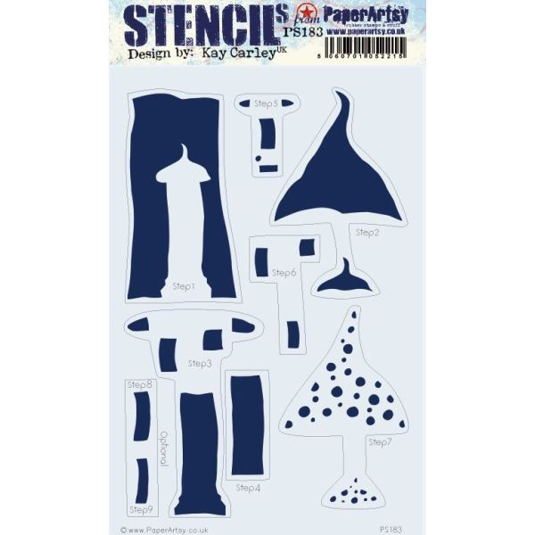 Paper Artsy Large Stencil 183 by Kay Carley