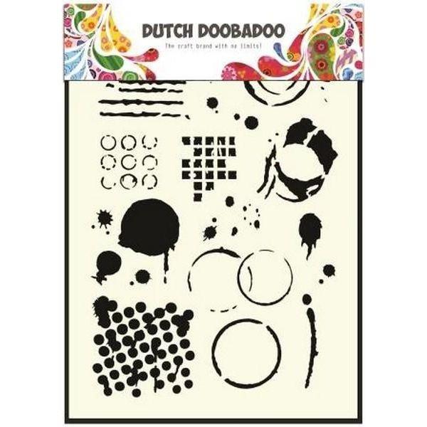 Dutch Doobadoo Mask Stencil A5 Geometric Tiles