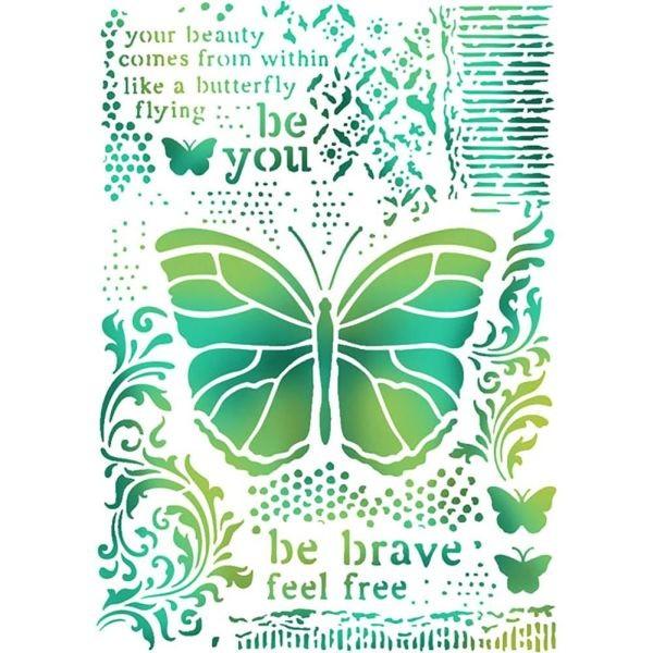 Stamperia Stencil A4 Butterflies