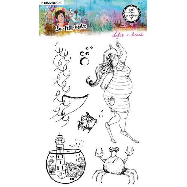 Studio Light by Marlene So-Fish-Ticated Clearstamps A5 No. 11
