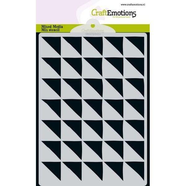Craft Emotions Mix Stencil A6 Trinagles 90 Degrees