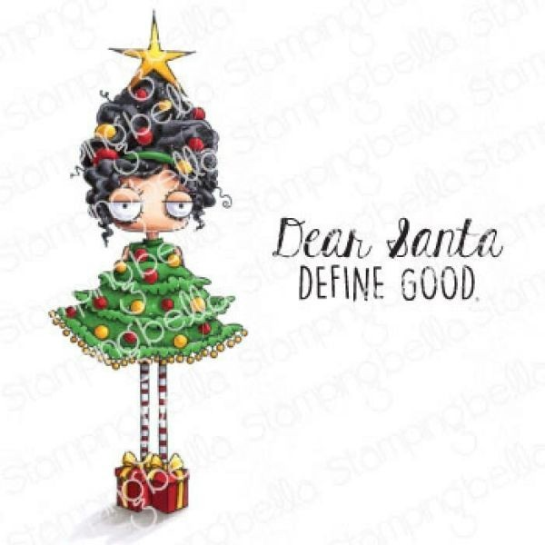 Stamping Bella Clingstamps Oddball Christmas Tree Girl