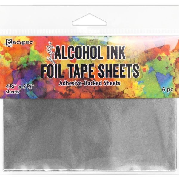Tim Holtz Alcohol Ink Foil Tape Sheets 4.25x5.5