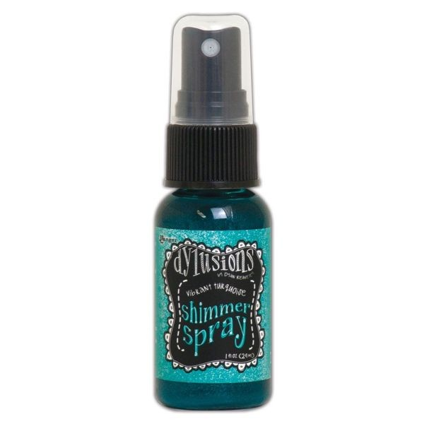 Dylusions Shimmer Spray Vibrant Turquoise