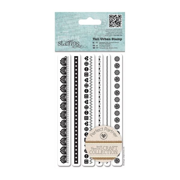 Papermania Craft Collection Pastels Urban Stamps Tall