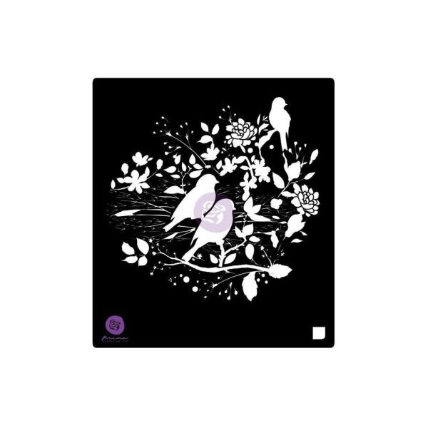 Prima Marketing Designer Stencil 6x6 Birdy Nest