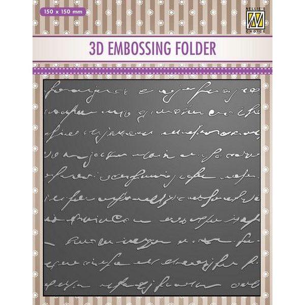 Nellie´s Choice 3-D Embossingfolder Writing