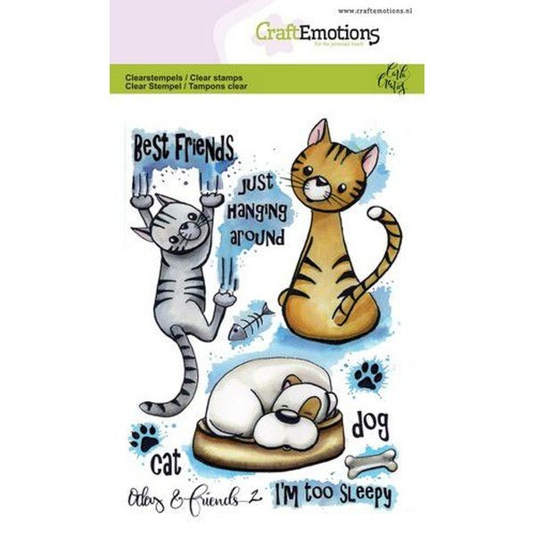 Craft Emotions Clearstamps Odey & Friends No. 2