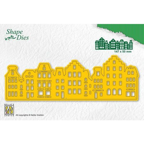 Nellie´s Choice Shape Die Vintage Houses