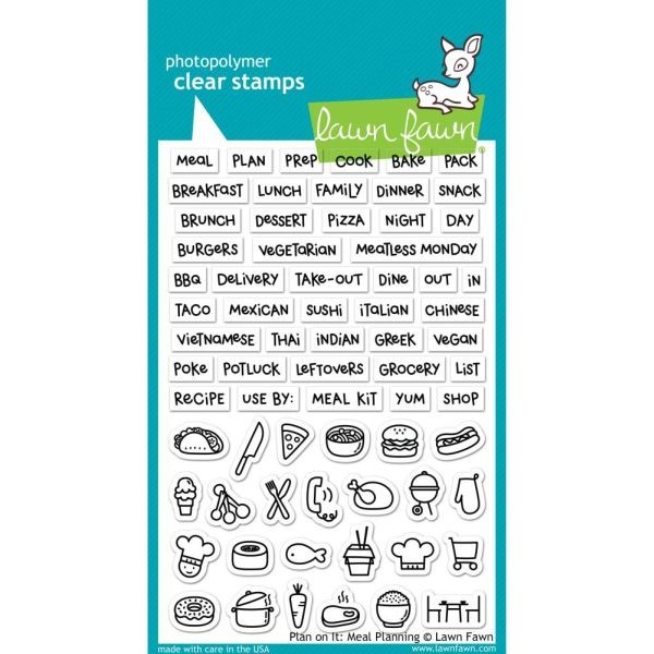 Lawn Fawn Clearstamps 4x6 Meal Planning