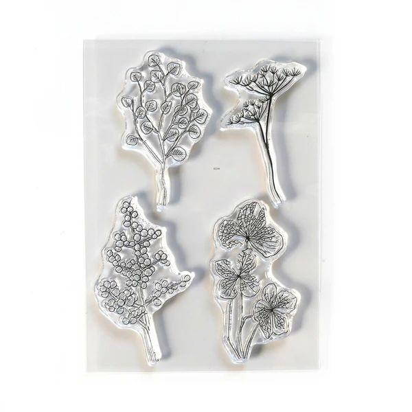 Elisabeth Craft Designs Clearstamps Flowy Florals