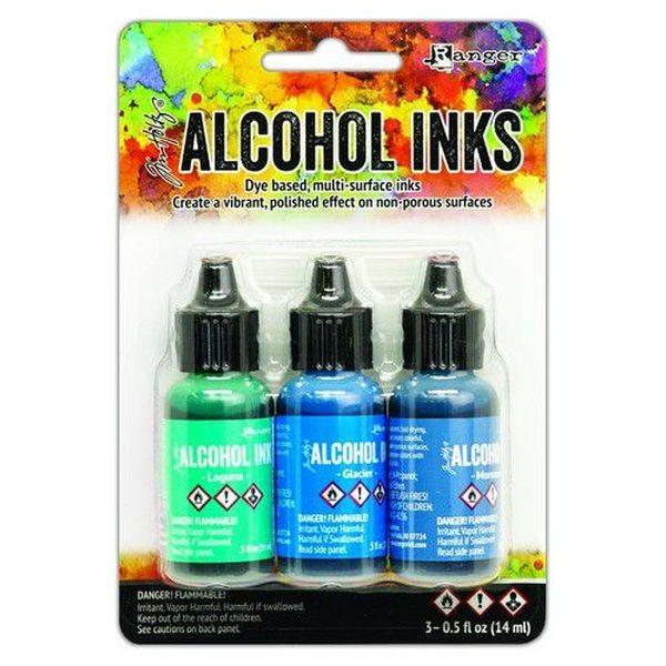 Tim Holtz Alcohol Ink Kit Teal-Blue Spectrum
