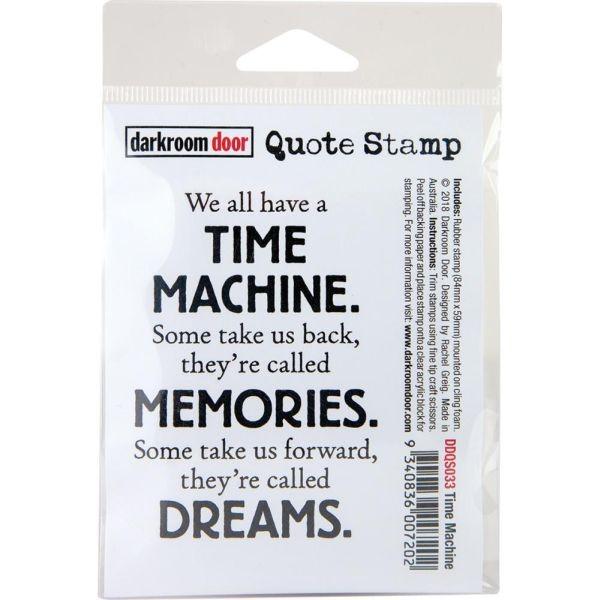 Darkrrom Door Clingstamp Time Machine