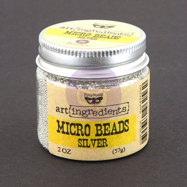 Prima Marketing Art Ingredients Micro Beads Silver
