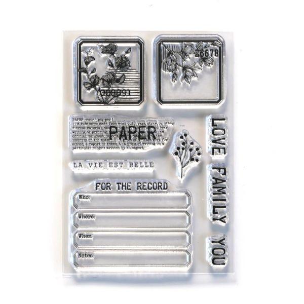 Elisabeth Craft Designs Clearstamps Paper Love