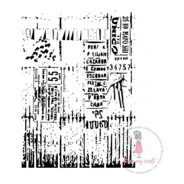 Dress my Craft Stencil A4 Ladger Script