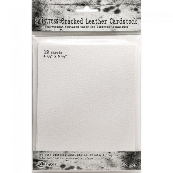 Tim Holtz Distress Cracked Leather Cardstock 4.25 x 5.5