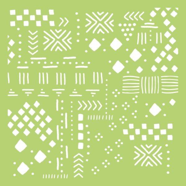 Kaisercraft Designer Template 6x6 Tribal Collage