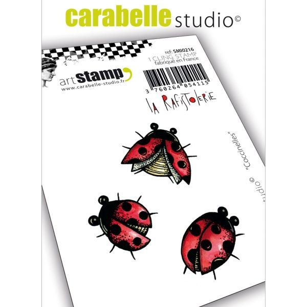 Carabelle Studio Tampon Art Stamp Mini Coccinelles