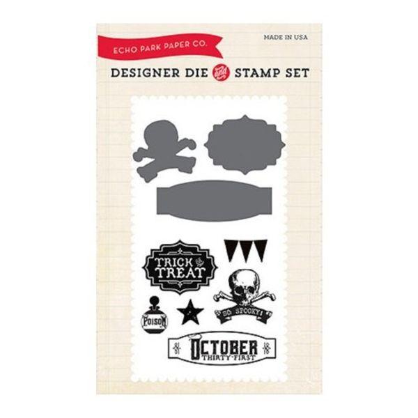Echo Park Designer Die & Stamp Set October 31st