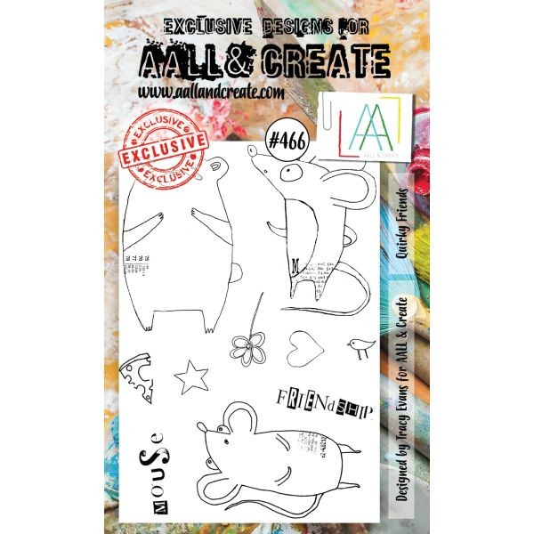 AALL & Create Clearstamps A6 No. 466 Quirky Friends