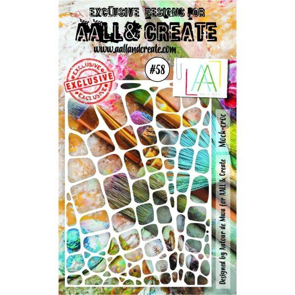 AALL & Create Stencil A6 No. 58 Mock Croc