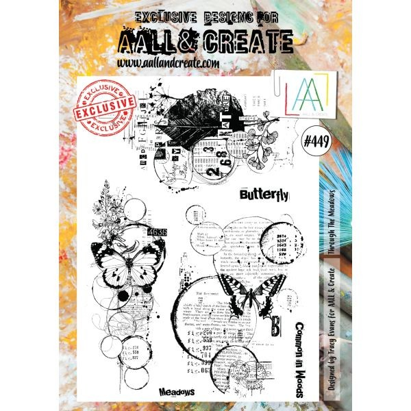 AALL & Create Clearstamps A4 No. 449 Through the Meadows