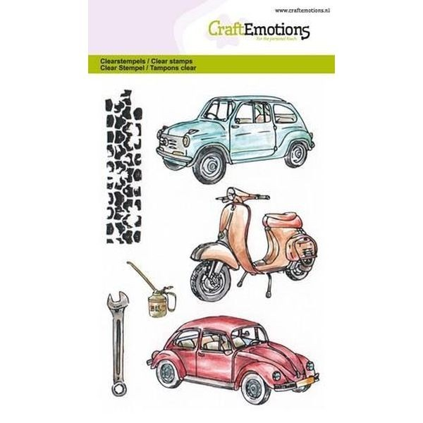Craft Emotions Clearstamps Classic Cars II