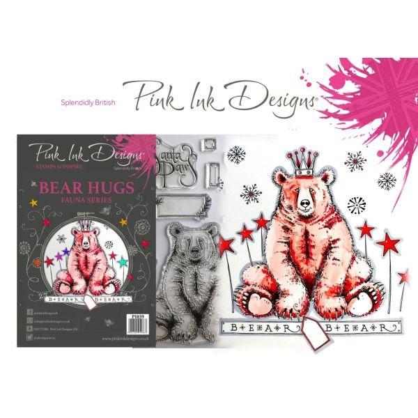 Pink Ink Designs Clearstamp Set Bear Hugs