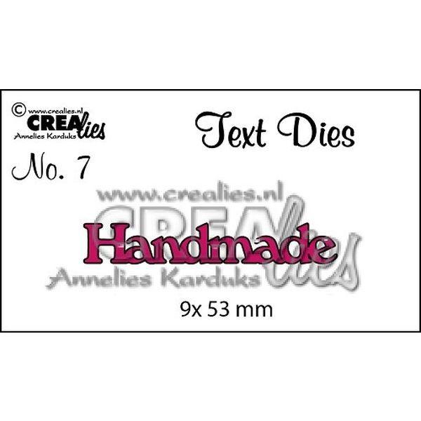 CreaLies Text Dies UK No. 07 Handmade