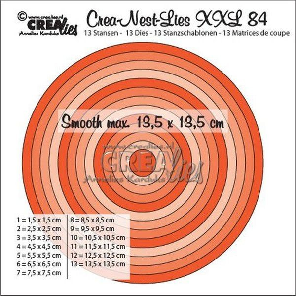CreaLies Crea-Nest-Lies XXL No. 84 Smooth Half-cm Circles
