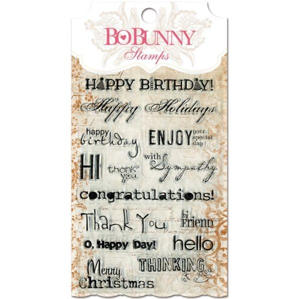 BoBunny Press Essentials Stamps Sentiments