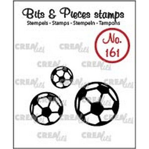 CreaLies Bits & Pieces Clearstamps No. 161 Footballs