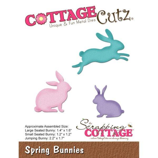 Cottage Cutz Die Spring Bunnies