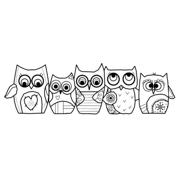 Woodware Clear Singles Owls
